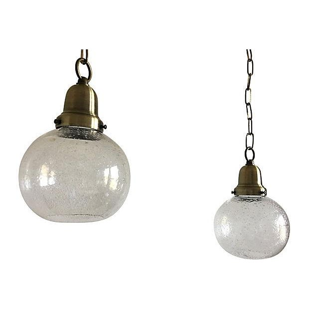 Contemporary Swedish Glass Pendant Lights - a Pair For Sale - Image 3 of 7