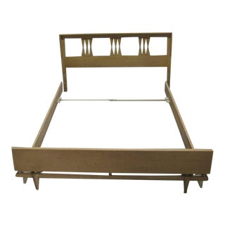Mid-Century Modern Kent Coffey Full Headboard Bed For Sale