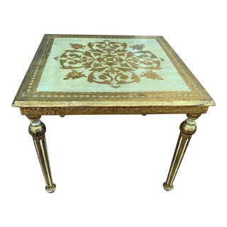 20th Century Italian Florentine Side Table For Sale