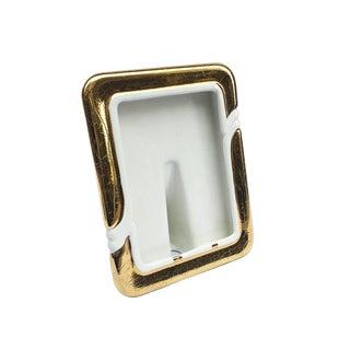 1980s Handmade Ceramic Gold Glazed Photograph Frame For Sale