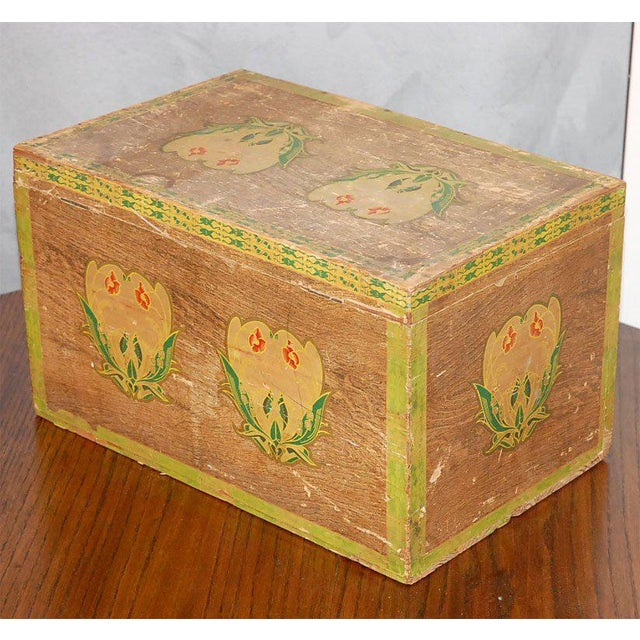 Early 20th Century Blue Rock Japan Tea Box For Sale - Image 5 of 8