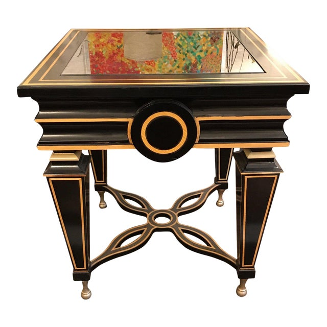 Hollywood Regency Caracole Side Table For Sale