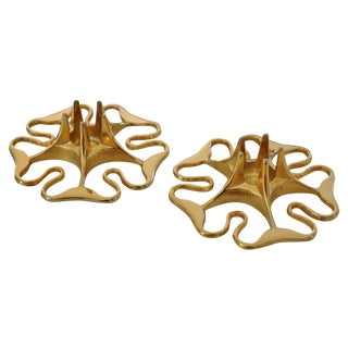 Brass Candleholders by Pierre Forsell for Skultuna