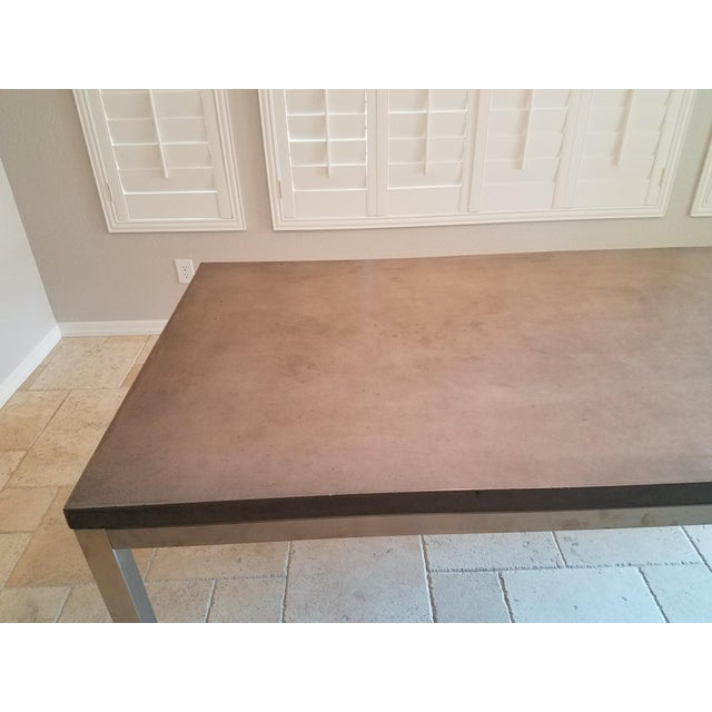 2010s Modern Industrial Concrete Dining Table For Sale - Image 5 of 8