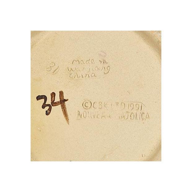 Majolica-Style Rabbit Motif Tea Set - Image 5 of 5