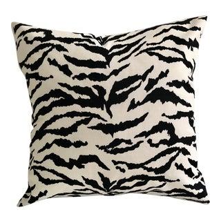"Tiger Print Indoor - Outdoor 12"" Toss Pillow, Custom Made For Sale"