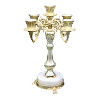 Italian Five Branch Candelabra For Sale