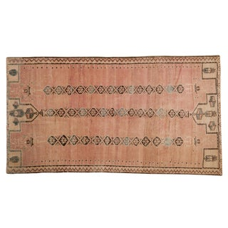 "Vintage Distressed Belouch Rug - 3'8"" X 6'7"" For Sale"