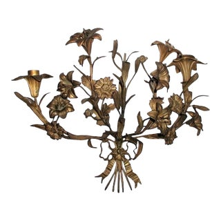 Early 1900's Bronze French Sconce For Sale