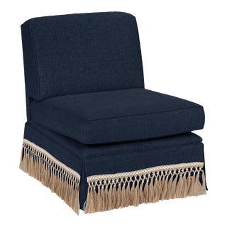 Casa Cosima Skirted Slipper Chair, Cosmos For Sale