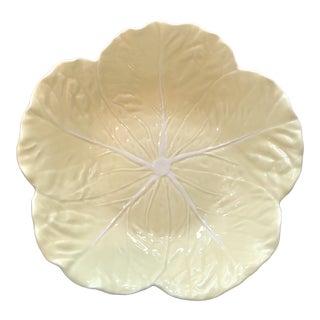 Bordallo Pinheiro Majolica Yellow Cabbage Ware Serving Bowl For Sale