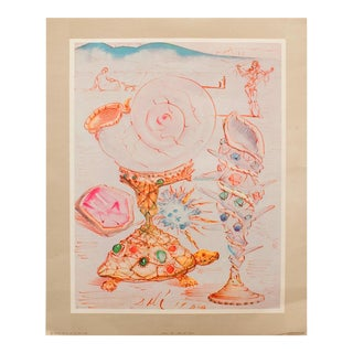1956 Dali, Original Period Turtle Lithograph From the Mrs. Albert D. Lasker Collection For Sale