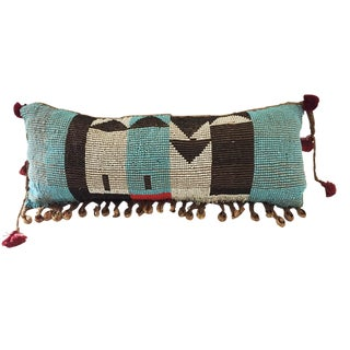 Tribal African Kirdi Beaded Pikuran Pillow For Sale