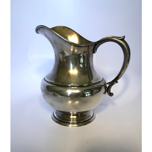 1950s Reed & Barton Sterling Silver Pitcher For Sale - Image 6 of 6