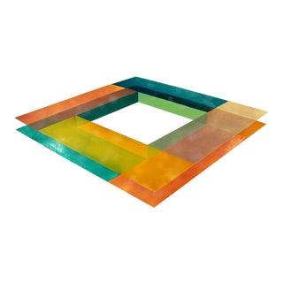 Mid Century Modern Abstract Painting Layered Fiberglass Resin Ron Davis 1970 For Sale