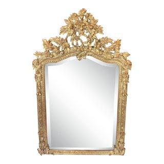 Fine Designer Louis XV Style Rococo Gilt Mirror For Sale
