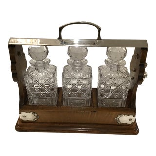 19th Century English Tantalus - 4 Piece Set For Sale