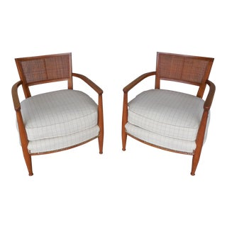 American of Martinsville Mid-Century Hollywood Regency Club Chairs - Pair