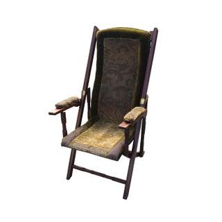 English Walnut Folding Chair For Sale