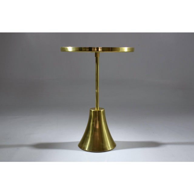 Jonathan Amar Studio Zel-II-I Contemporary Brass Mosaic Side Table, Flow Collection For Sale - Image 4 of 10