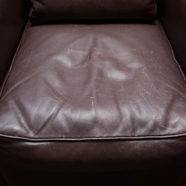 Holly Hunt Brown Leather Swivel Chairs - Image 9 of 11