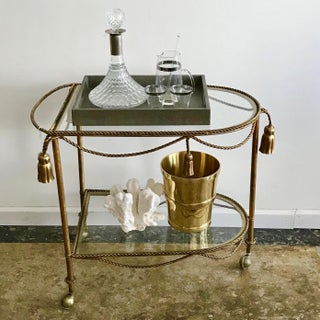1970s Italian Tassel and Rope Brass Bar Cart Preview