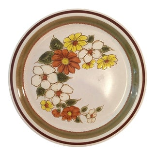 1970s 70's Country Mist Stoneware Serving Platter For Sale