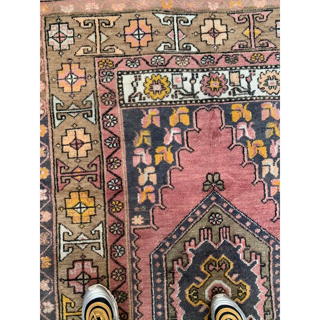 Vintage Persian Area Rug- 3′8″ × 8′3″ For Sale In Los Angeles - Image 6 of 7