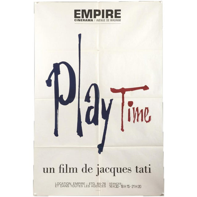 """1967 French Jacques Tati """"Play Time"""" Film Poster - Image 1 of 3"""