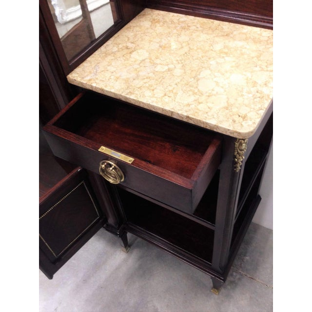 Bronze Modernist Vitrine with Two Shelves on the Sides For Sale - Image 7 of 9