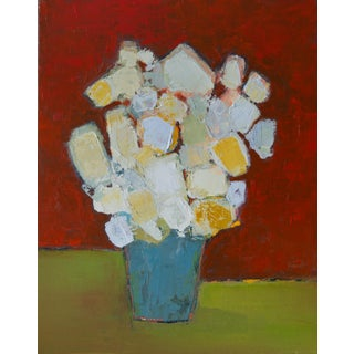 "Bill Tansey ""Blue Bucket"" Abstract Oil Painting on Canvas For Sale"