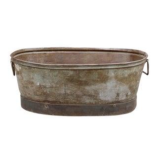 Industrial Vintage Metal Tub