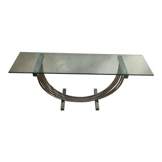 Vintage Entry Way Chrome Console For Sale