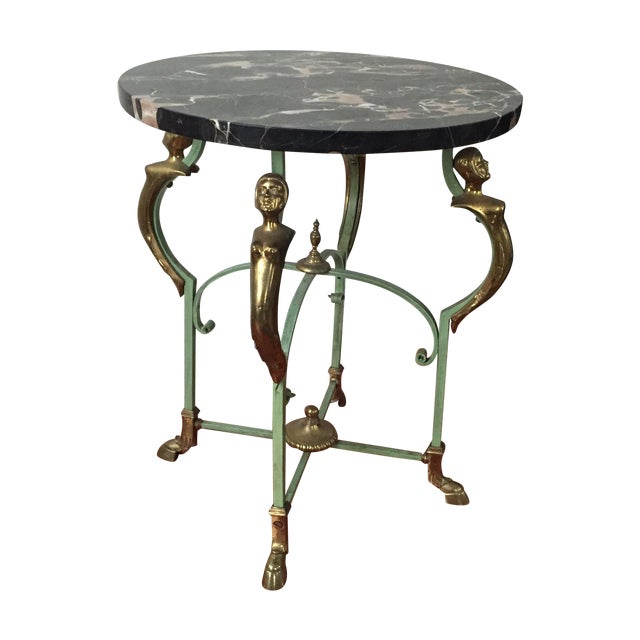 Antique French Marble Table - Image 1 of 9