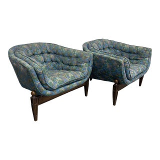 1970s Castro Convertible Barrel Chairs - a Pair For Sale