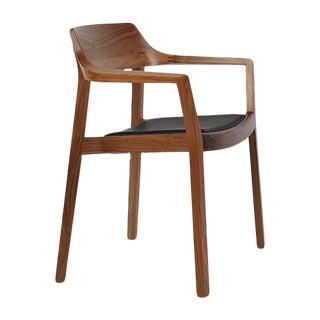 Modern Swiss Design Ono Walnut Chair For Sale
