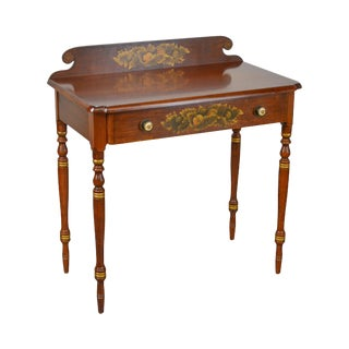 Hitchcock Federal Style Stenciled Solid Maple Small Writing Desk