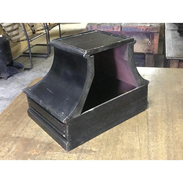 Mid-19th Century Painted Black Plinth From France For Sale - Image 4 of 5