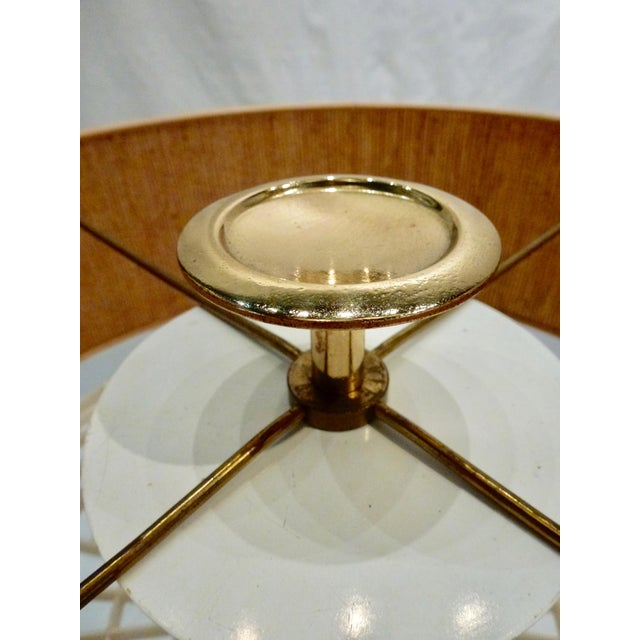 Gold Mid-Century Modern Tommi Parzinger Brass Candlestick Lamps - a Pair For Sale - Image 8 of 10
