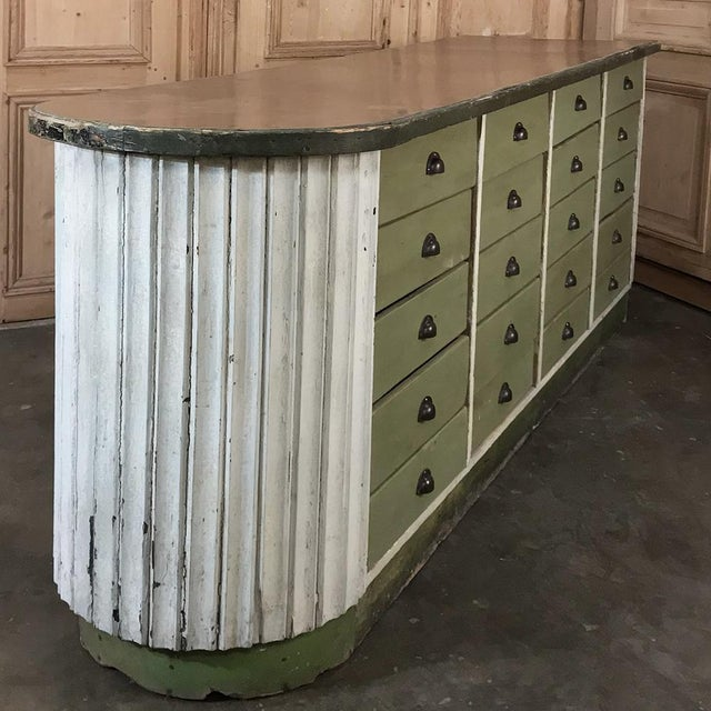 Mid-Century Painted Store Counter For Sale In Dallas - Image 6 of 13
