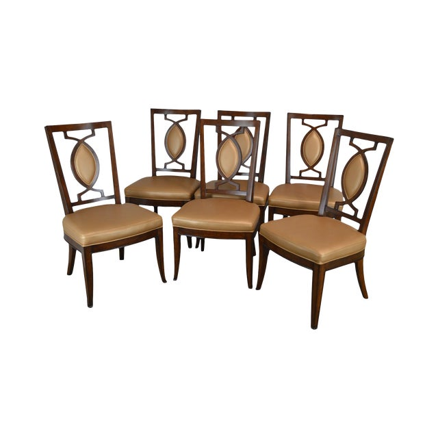 Regency Classic Modern Style Set 6 Dining Chairs For Sale