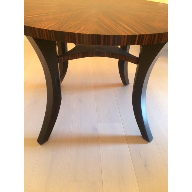 Zebra Wood Round Dining Table - Image 5 of 5