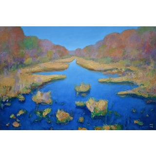 "Contemporary Landscape Painting by Stephen Remick ""Autumn at the Marsh"" For Sale"