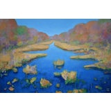 """Image of Stephen Remick """"Autumn at the Marsh"""" Contemporary Landscape Painting For Sale"""