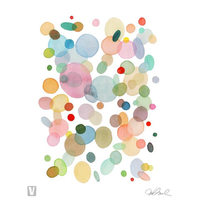 "Abstract Ping Pong, Giclee Print 16x20"" Watercolor For Sale - Image 3 of 3"