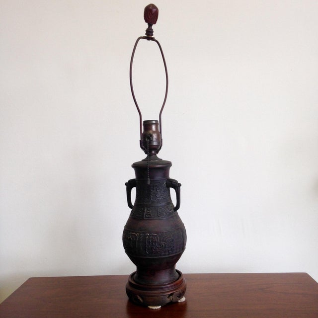 Antique Japanese Lamp - Image 2 of 6