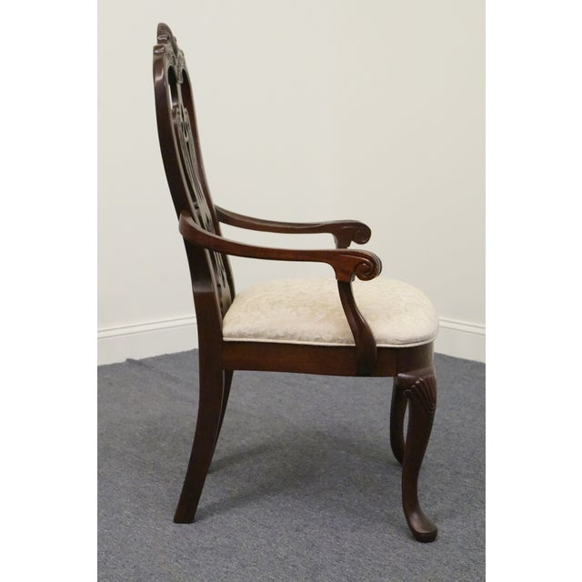 Mahogany Late 20th Century Vintage Thomasville Mahogany Collection Arm Chair For Sale - Image 7 of 10