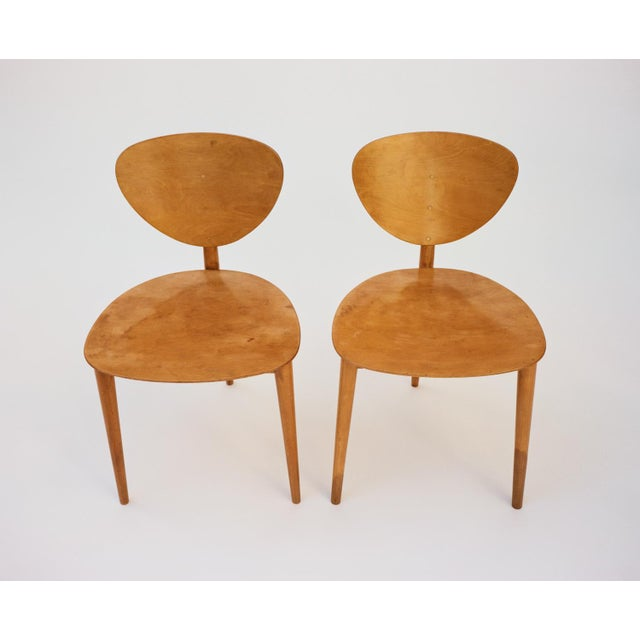 1940s Max Bill Tripod Chairs, 1949 For Sale - Image 5 of 6