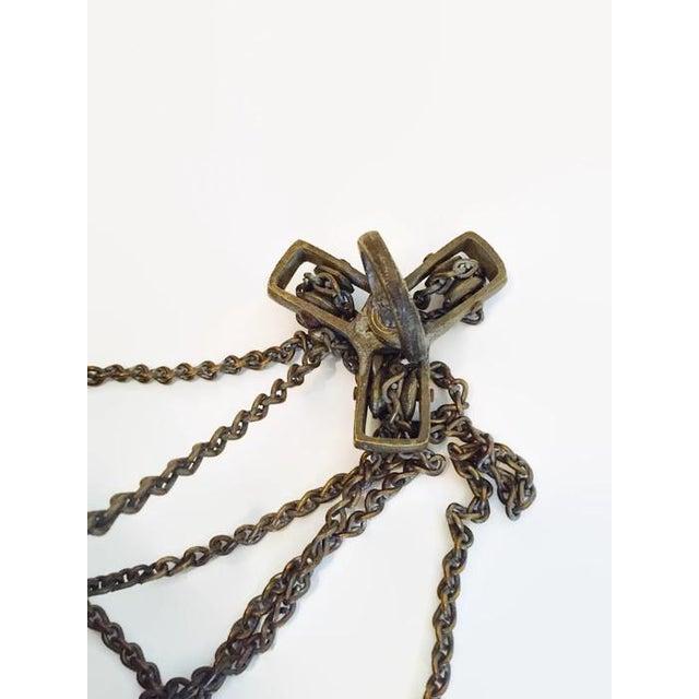 Antique Turkish Pierced Brass Pendant Lamp - Image 10 of 10