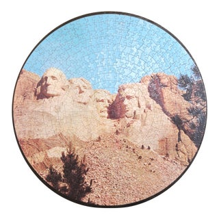 Vintage Mt. Rushmore Jigsaw Puzzle Wall Hanging For Sale